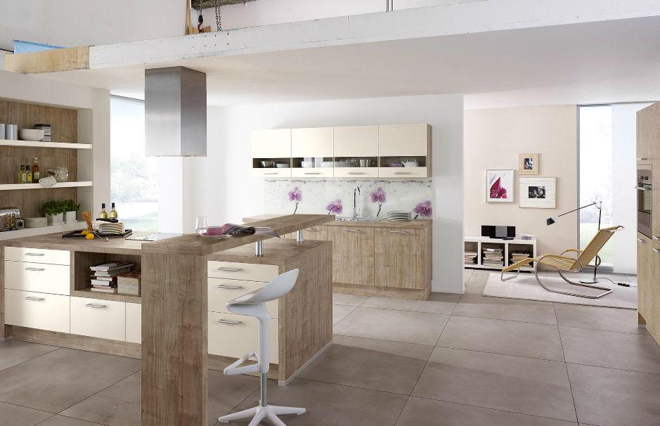 Wellmann küchen magnolie  Moderne Küche / Laminat / Kochinsel / mit Griffen - 216 TARA 205 ...