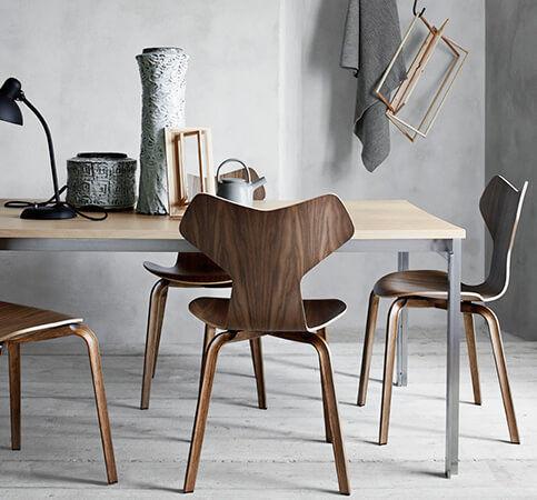 ... Stuhl / Skandinavisches Design / Stapel / Aus Eiche / Nussbaum ...