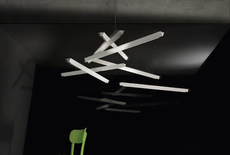 Hängelampe / originelles Design / Metall / LED - MANOMAN - INGO MAURER