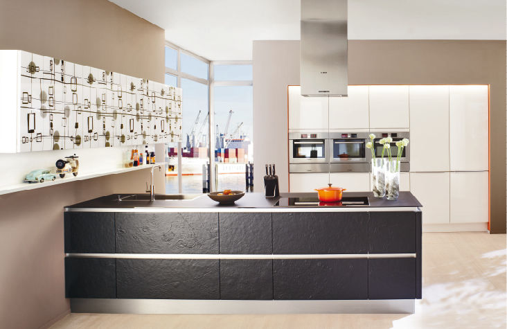 Moderne Küche / Holz / Kochinsel / Lackiert - Xl 4450/Gl 7375