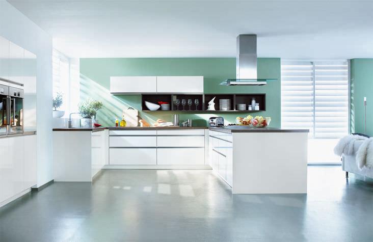 Moderne Küche / Holz / lackiert - XL 1251 - Ballerina - Küchen Heinz ...