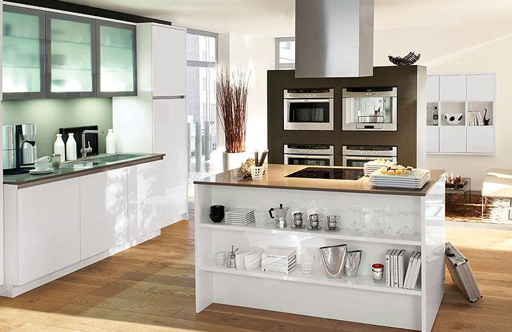 Moderne Küche / Holz / Lackiert / Hochglanz - Gl 5650 - Ballerina
