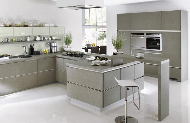 Moderne Küche / Laminat / ohne Griff - GL 3376/XL 3371 - Ballerina ...