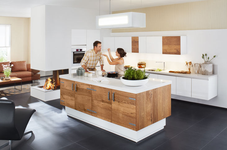 Ballerina küchen qualität  Moderne Küche / Holzfurnier / lackiert - XL 3461/7700 - Ballerina ...