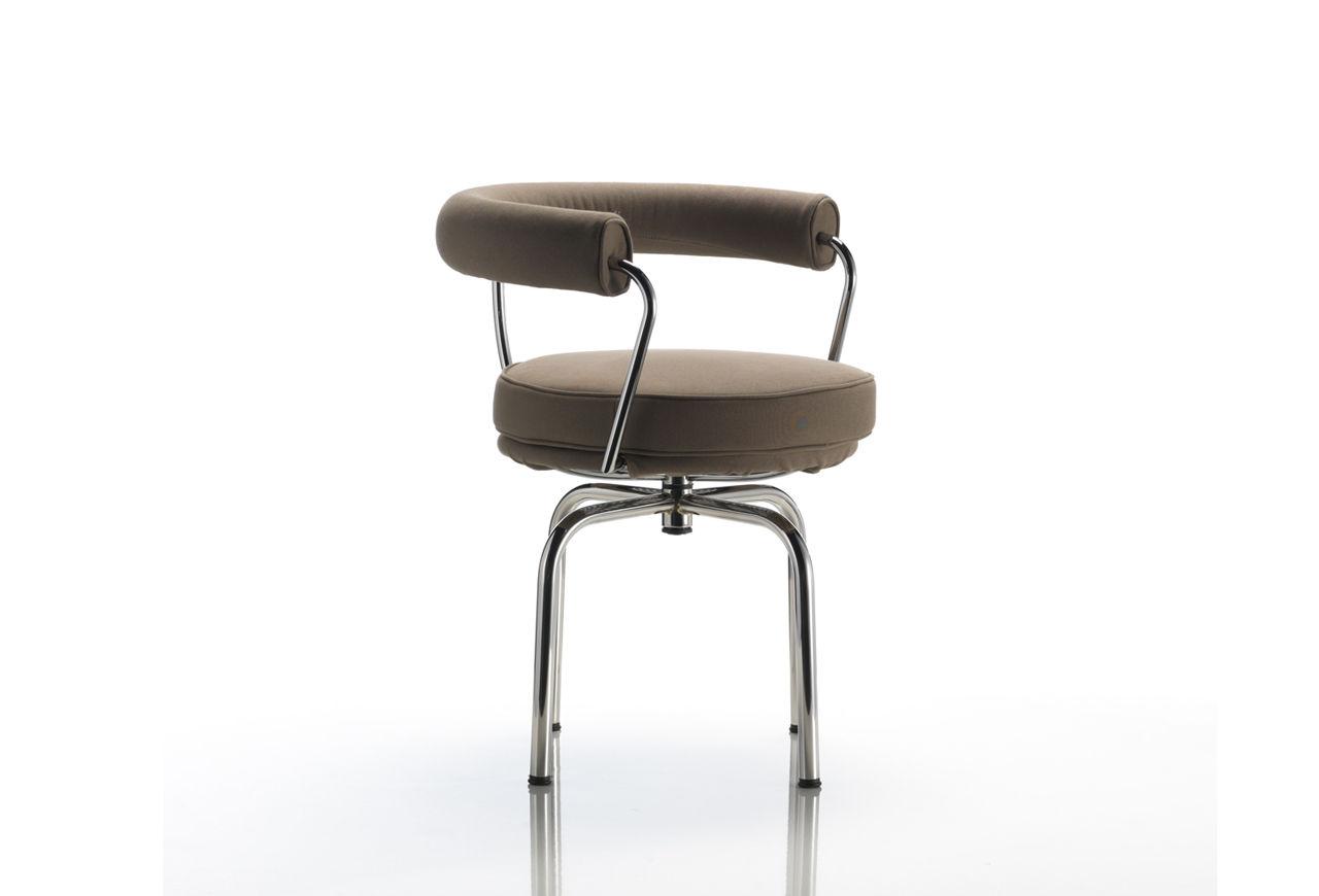 Moderner Stuhl / Stoff / Edelstahl / von P. Jeanneret - LC7 - Cassina