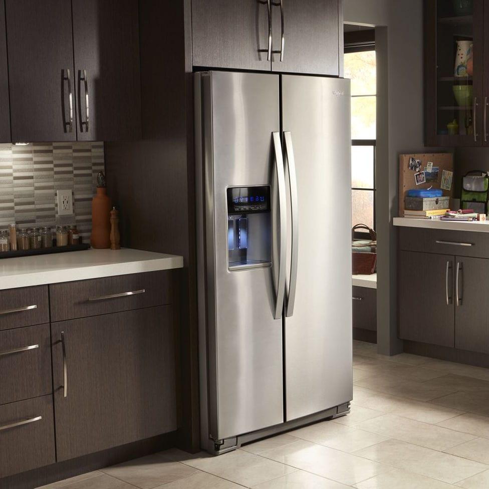 Amerikanisch Kühlschrank / Edelstahl / Mit Wasserspender / Eiswürfelspender    WRS571CIHZ