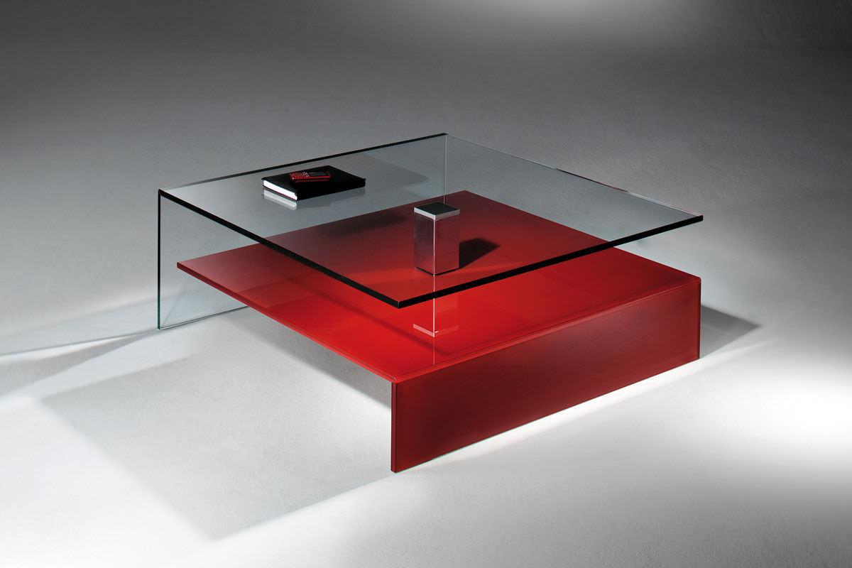 Couchtisch / modern / aus edelstahl / glas   nuo by jürgen sohn ...