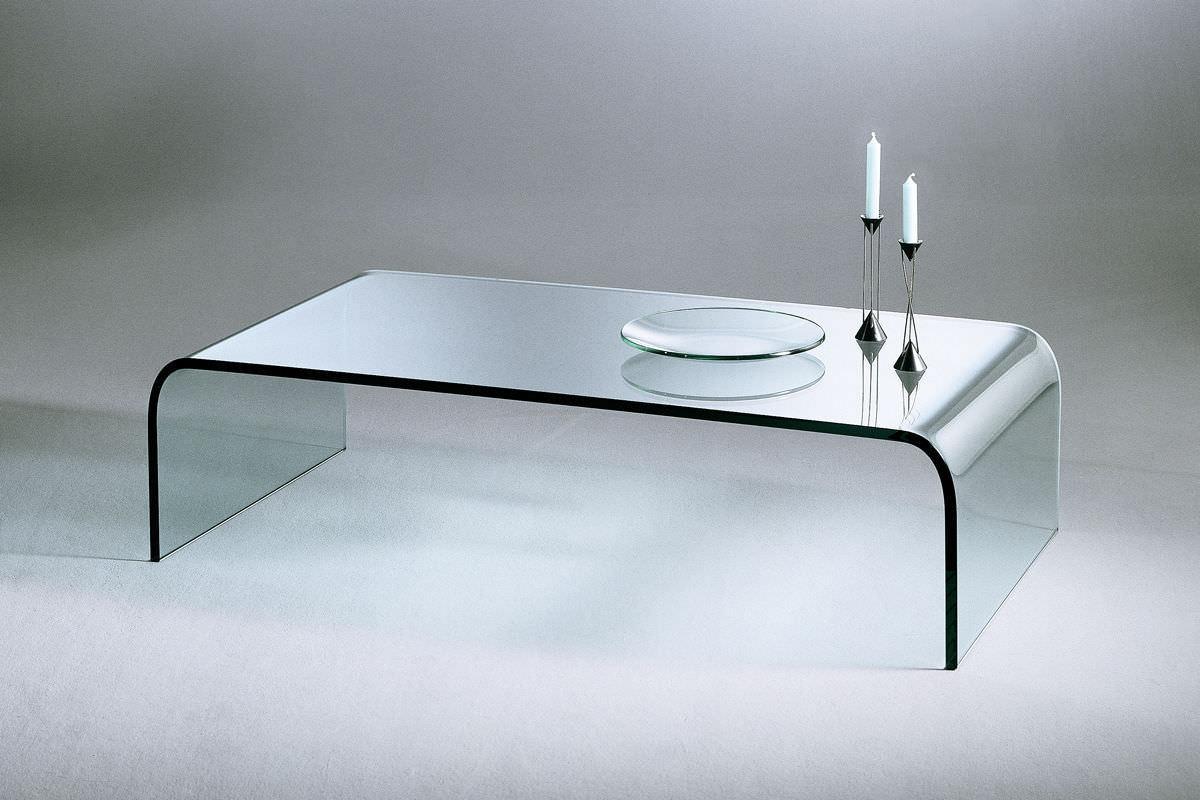 Moderner Couchtisch Glas Rechteckig Gebogen U Dreieck GmbH
