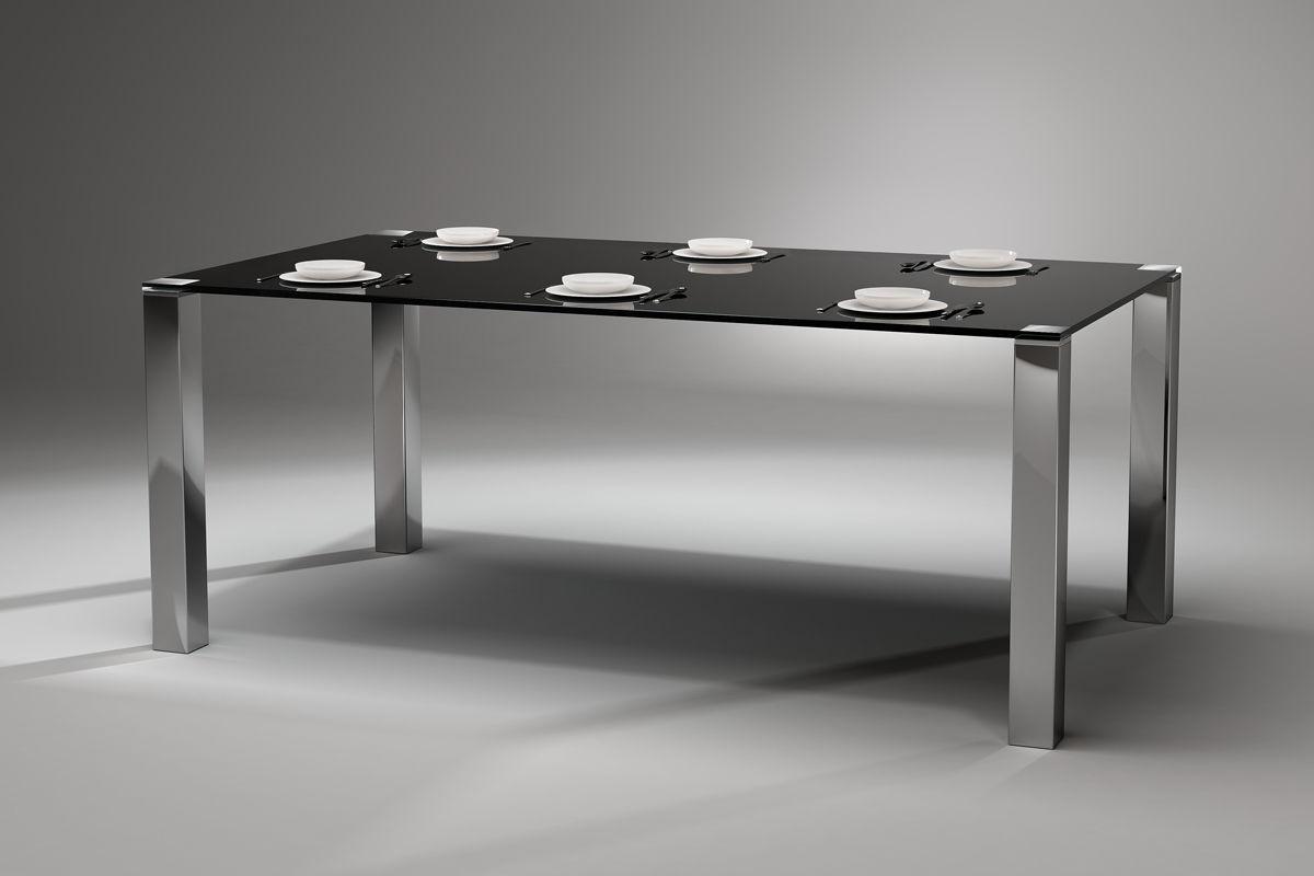 moderne esstisch / glas / edelstahl / rechteckig - quadro magnum, Esstisch ideennn
