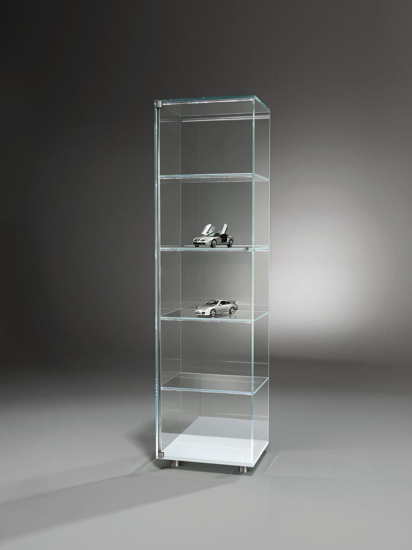 Moderne vitrine / aus edelstahl / glas / leucht   solus   dreieck gmbh
