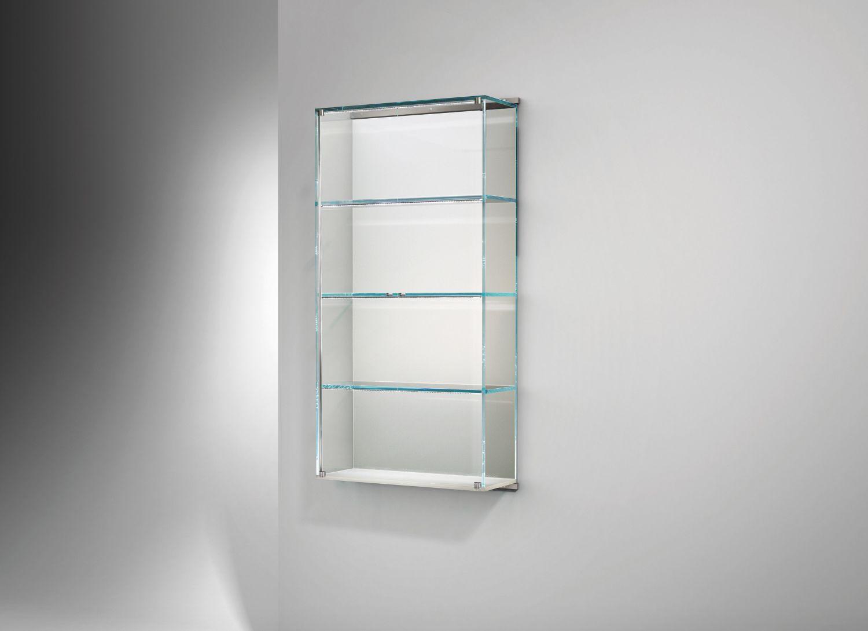 Wandmontiertes Regal / modern / Edelstahl / Glas - VITRO - Dreieck GmbH