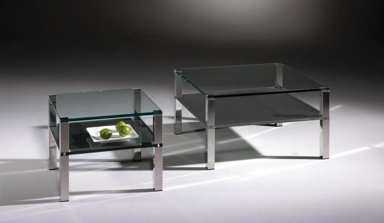Wunderschön Couchtisch Rauchglas Galerie Von Moderner / Glas / Polierter Edelstahl /