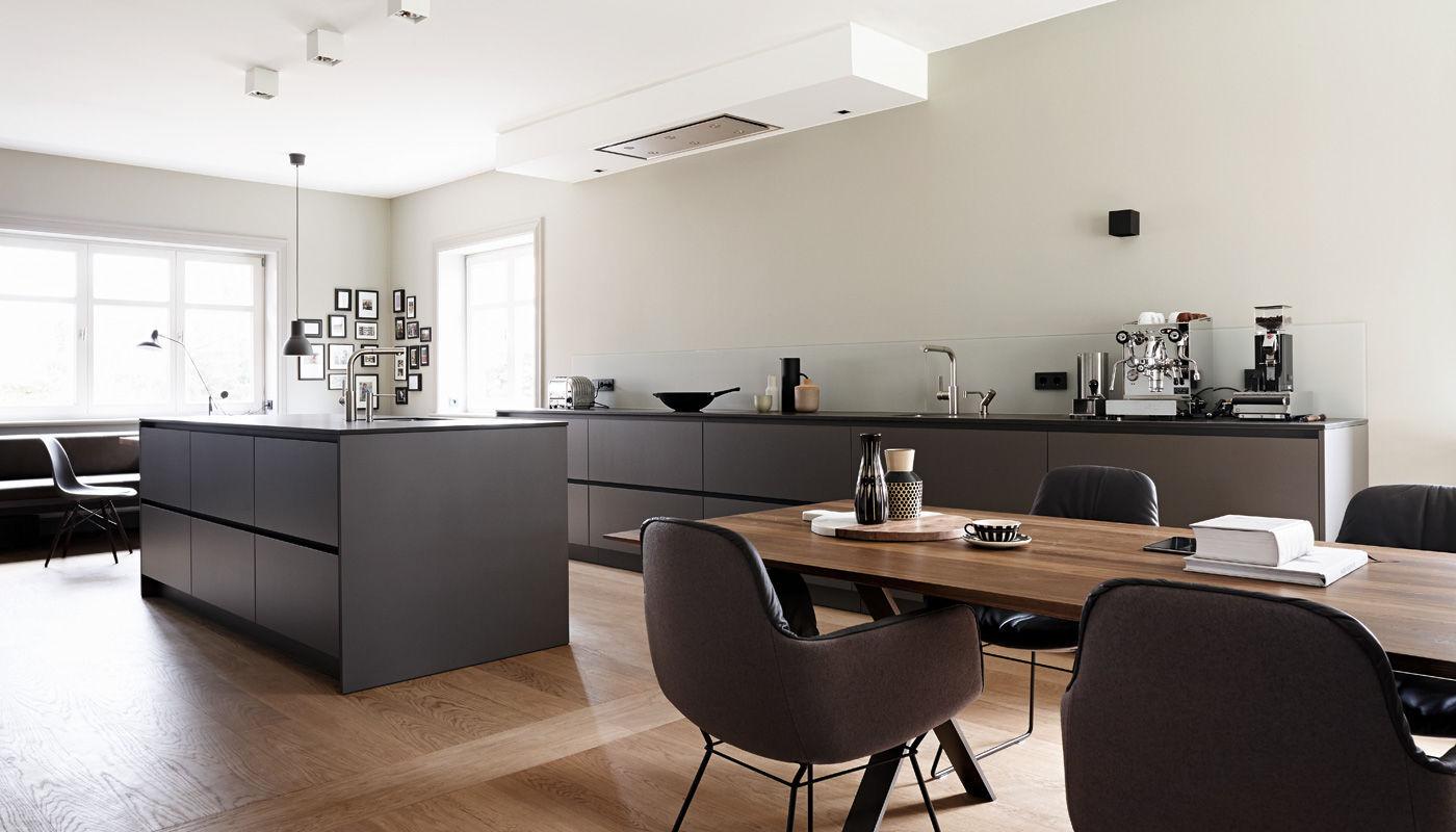 Moderne Küche / Laminat / Stein / Kochinsel   HOUSE HAMBURG II