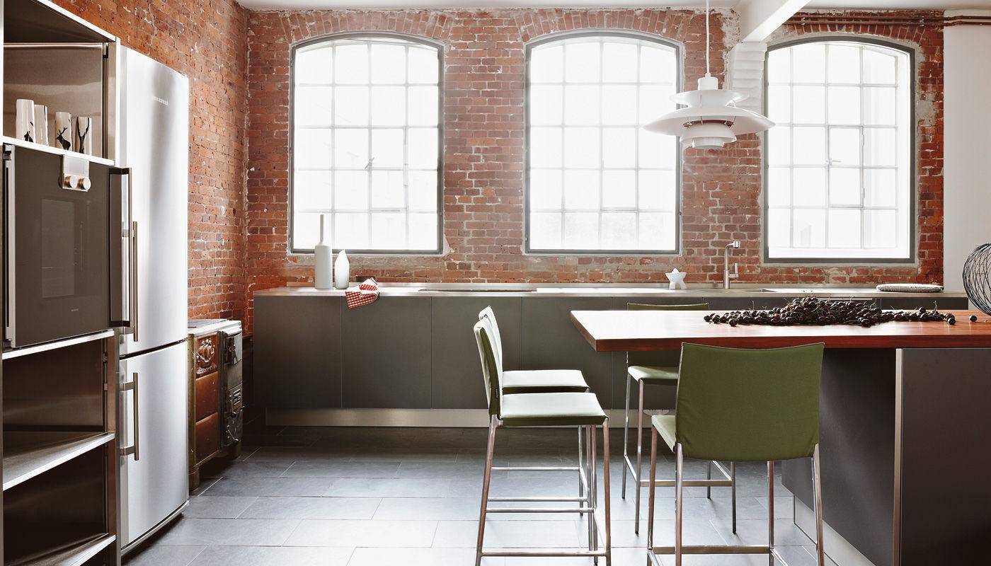 Moderne Küche / Edelstahl / Laminat / aus Kirschbaum - LOFT HAMBURG ...