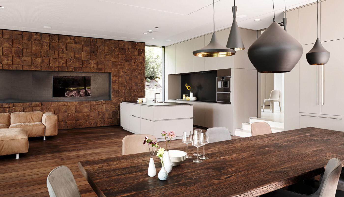 Moderne Küche / Laminat / Kochinsel / matt - VILLA SALZBURG ...