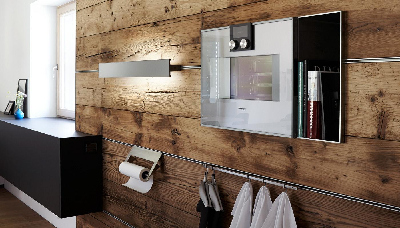 moderne küche / aus edelstahl / laminat / kochinsel - villa