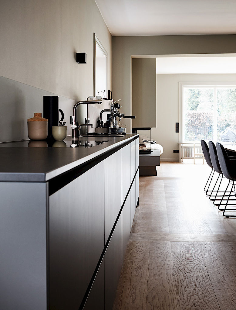 Moderne Küche / Laminat / Stein / Kochinsel - HOUSE HAMBURG II ...