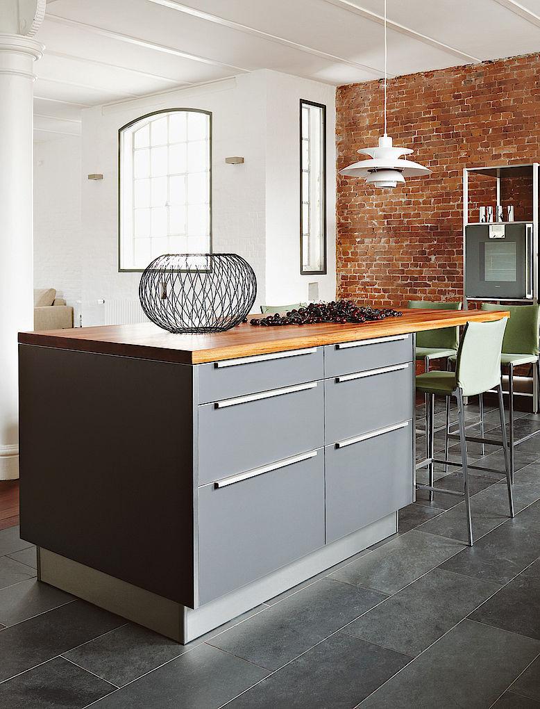 Moderne Küche / Edelstahl / Laminat / aus Kirschbaum - LOFT ...