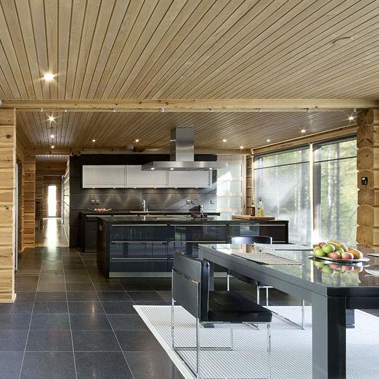 Moderne Küche / Aluminium / Edelstahl / Laminat - House Helsinki