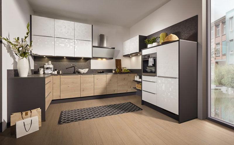 Moderne Küche / Holzfurnier / lackiertes Holz / Kochinsel - CUBE ...