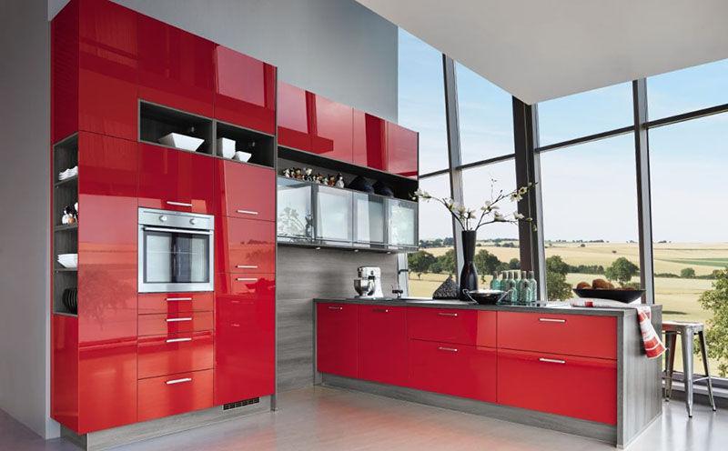 Moderne Küche / Holzfurnier / Laminat / Kochinsel - STAR - Express ...
