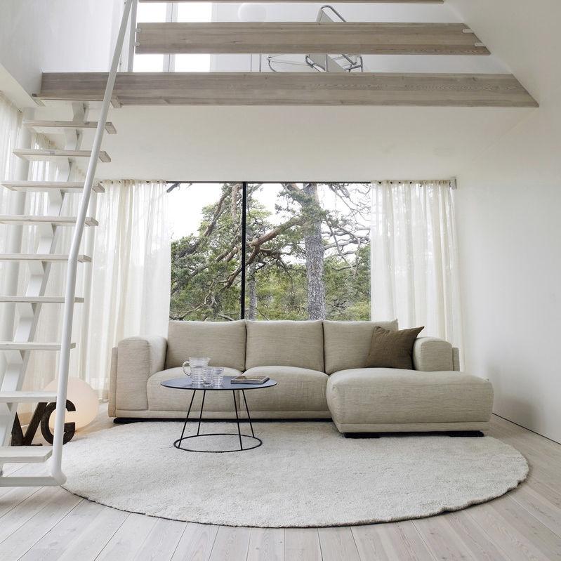 Modernes Sofa / Leder / Stoff / 3 Plätze - SHABBY CHIC - Furninova AB