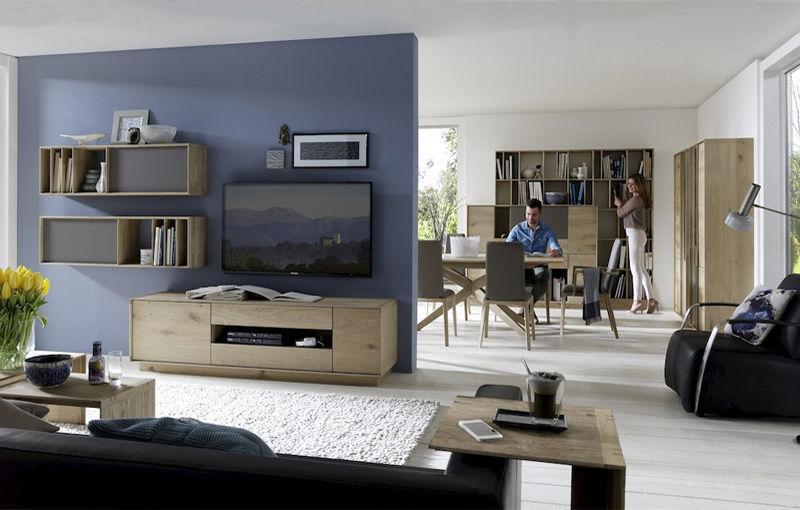 Moderne Wohnwand / Aus Eiche ...