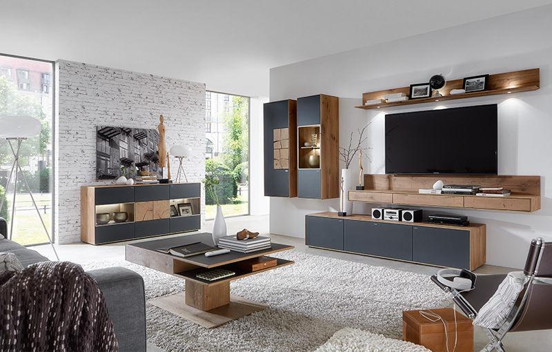 moderne wohnwande eiche, moderne wohnwand / aus eiche - caya - hartmann möbelwerke gmbh - videos, Innenarchitektur