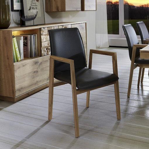 Moderner Stuhl / Polster / mit Armlehnen / aus Eiche - NILA ...
