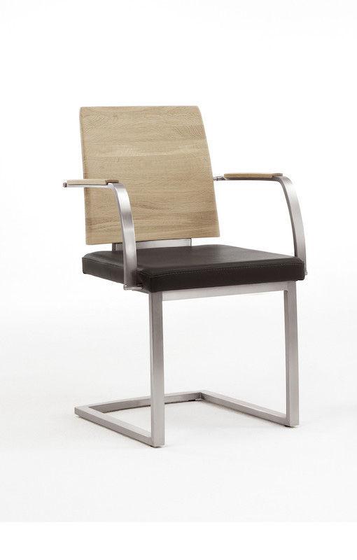 Moderner Stuhl / Polster / mit Armlehnen / mit Überhang - PECANO ...