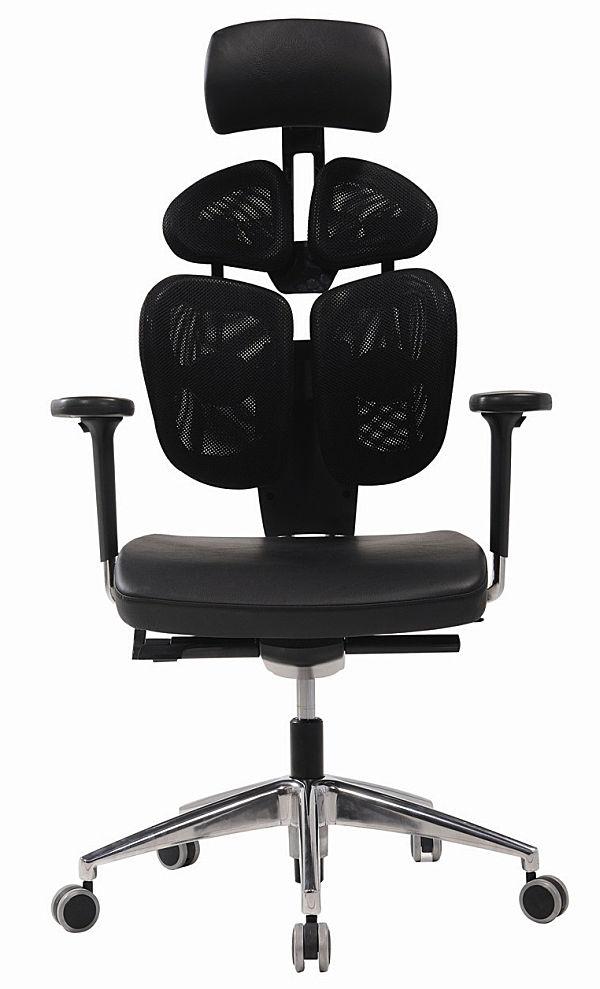 Bürostuhl ergonomisch höhenverstellbar  Moderne Chefsessel / höhenverstellbar / Kopfstütze / drehbar ...