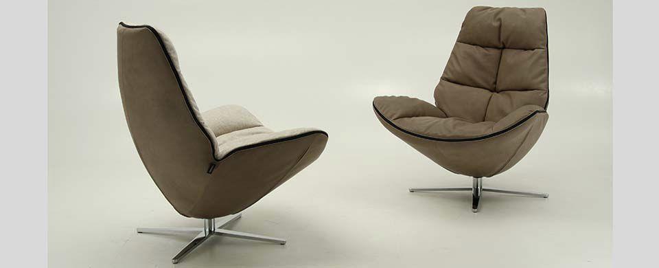 Moderne Sessel Design moderner sessel aus federn drehbar mit armlehnen miro