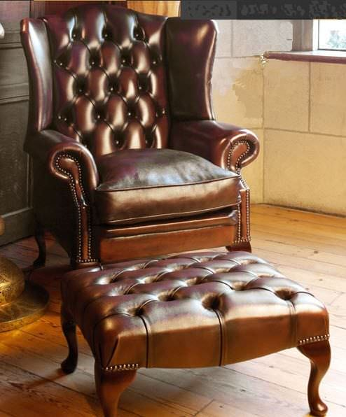 Chesterfield Sessel Leder Ohren Stamford Fleming Howland