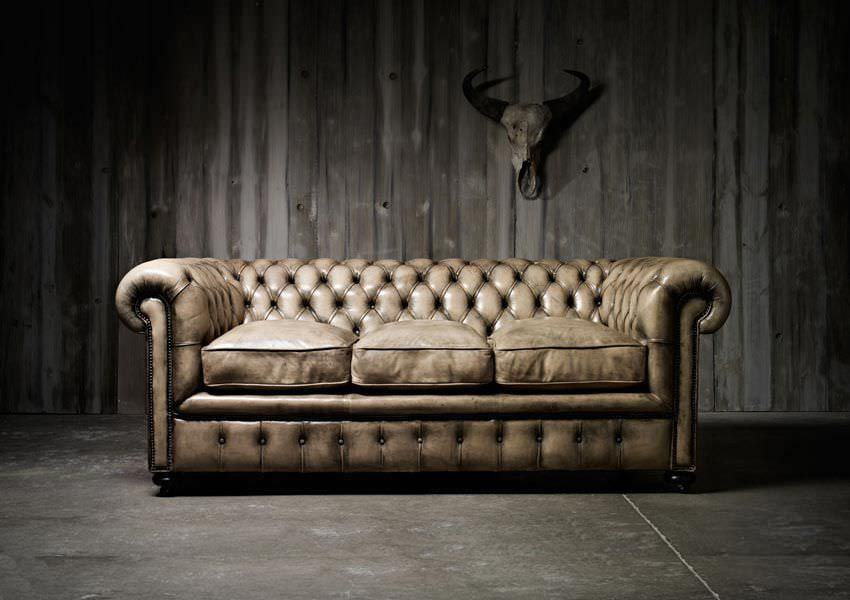 Chesterfield sofa leder  Chesterfield-Sofa / Leder / 3 Plätze / braun - WILLIAM BLAKE ...