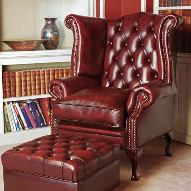 Chesterfield Sessel Leder Ohren Graham Fleming Howland