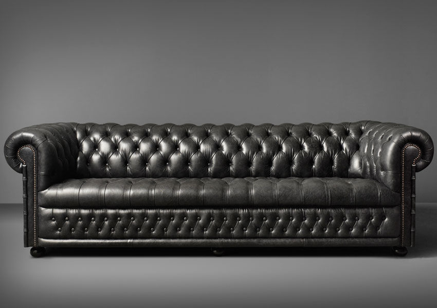 Chesterfield sofa leder  Chesterfield-Sofa / Leder / 3 Plätze / grün - HAMILTON - Fleming ...