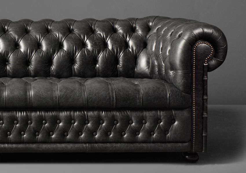 Chesterfield Sofa Leder 3 Platze Grun Hamilton Fleming