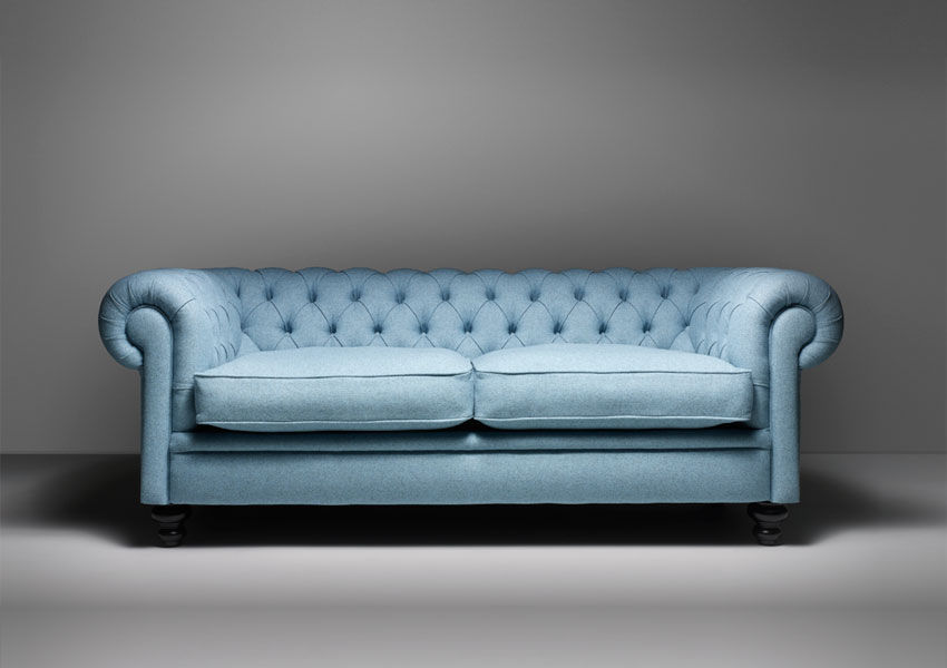 Chesterfield sofa leder  Chesterfield-Sofa / Leder / Wolle / 2 Plätze - CROMWELL - Fleming ...