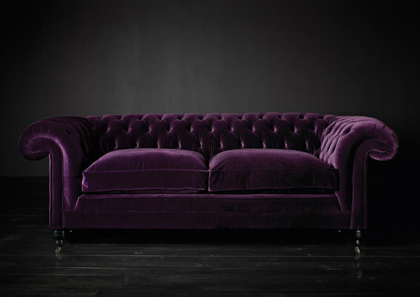 Chesterfield sofa samt  Chesterfield-Sofa / Samt / Leder / 2 Plätze - SAMUEL JOHNSON ...