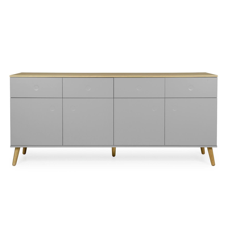 Sideboard Skandinavisches Design Aus Eiche Weiß Grau Dot