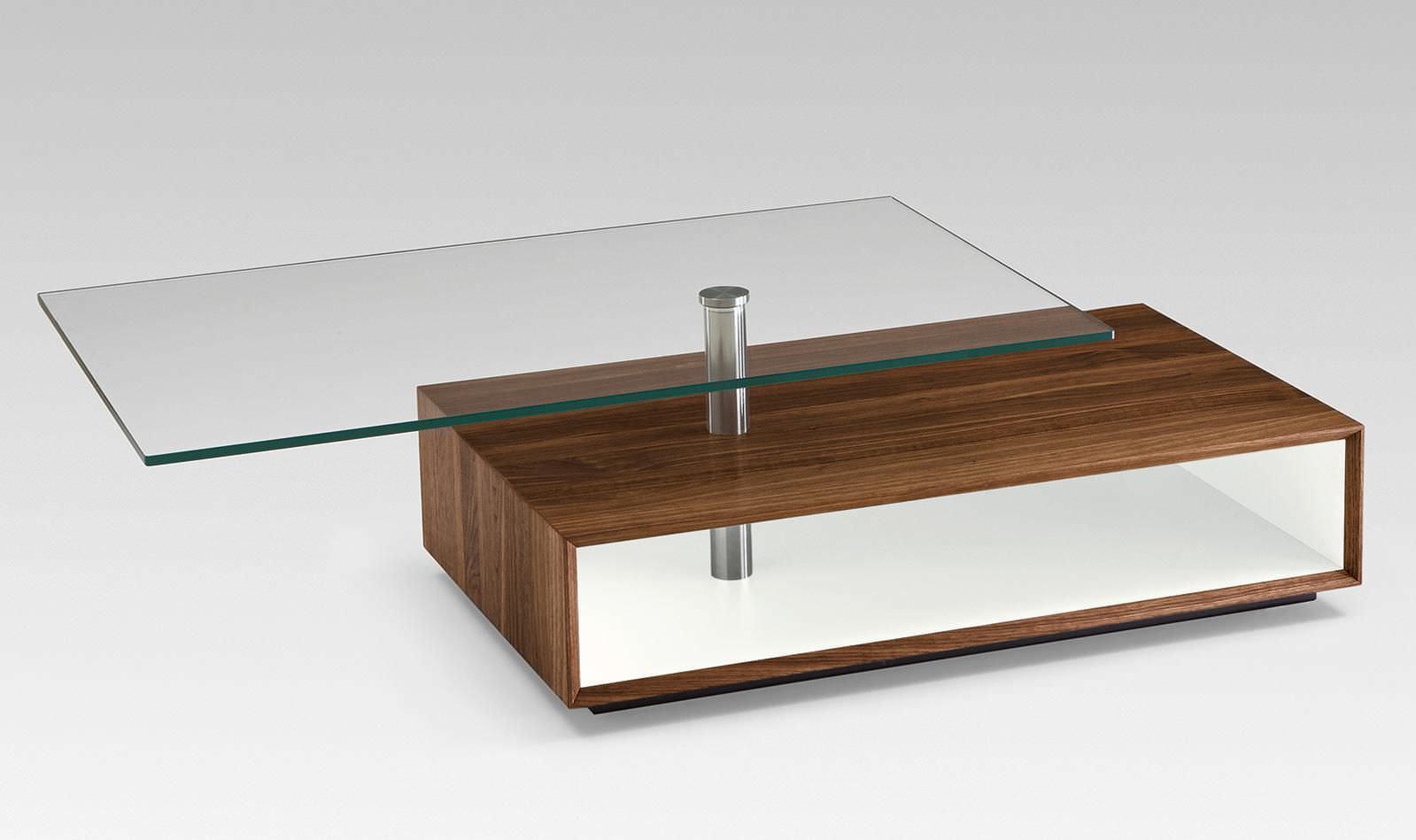 Moderner Couchtisch Holz Glas Rechteckig 4087 Alfons