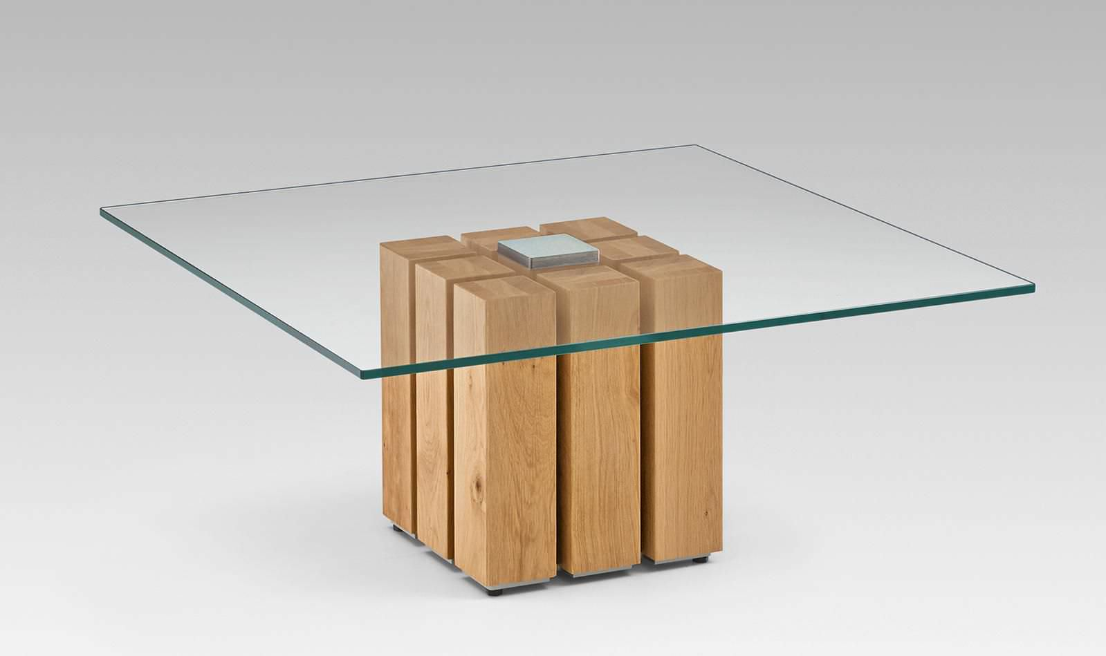 Couchtisch glas holz quadratisch  Moderner Couchtisch / Glas / Massivholz / quadratisch - 4363 ...