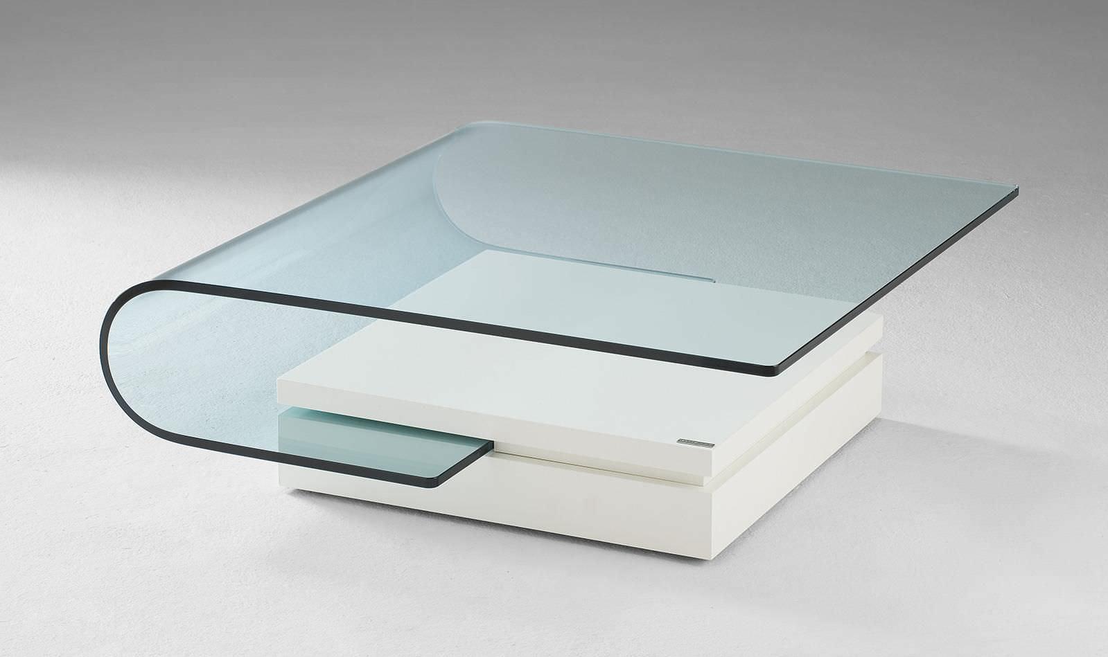 Moderner Couchtisch Glas Rechteckig Innenraum 4405 Alfons