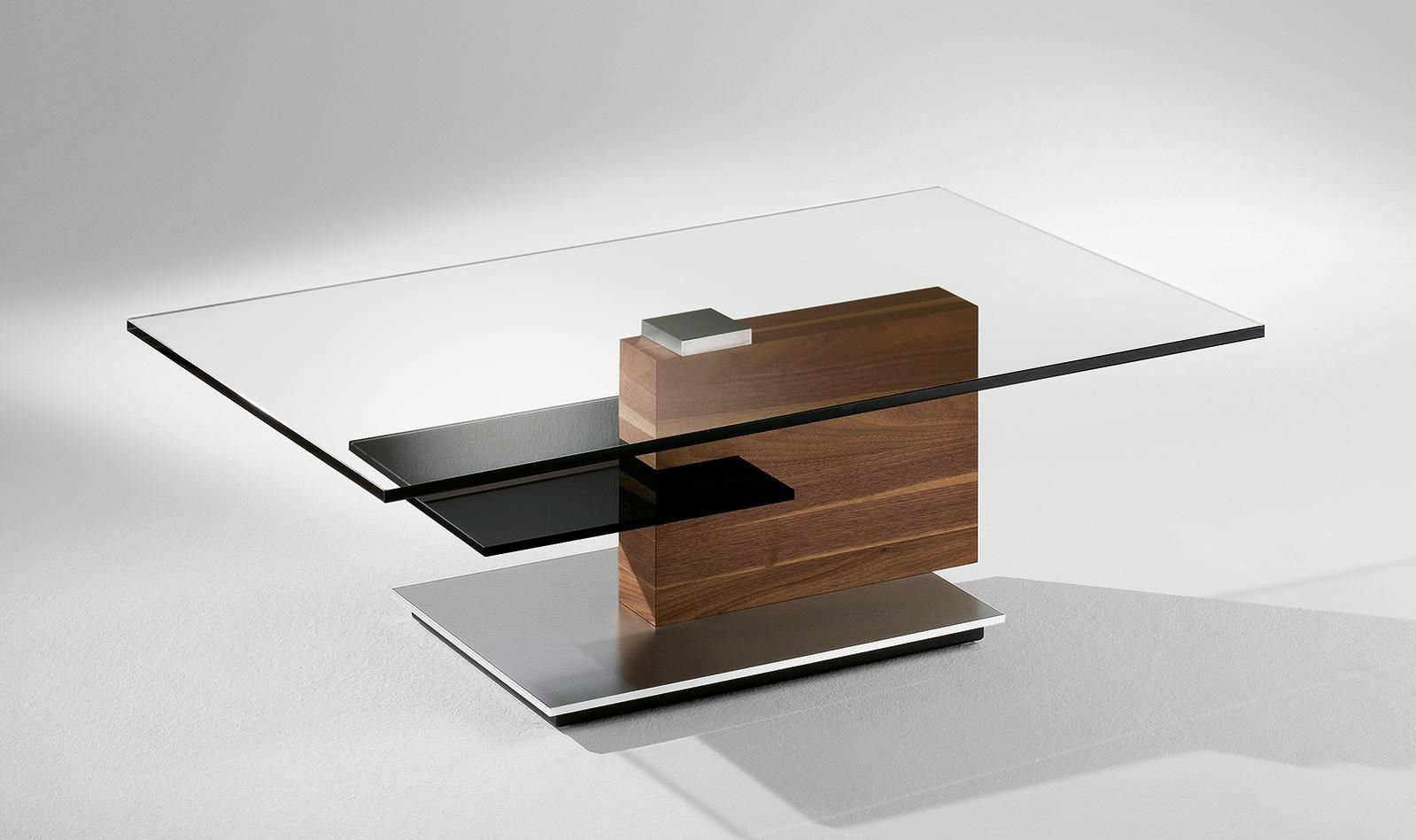 Couchtisch glas holz  Moderner Couchtisch / Holz / Glas / rechteckig - 4423 - Alfons ...