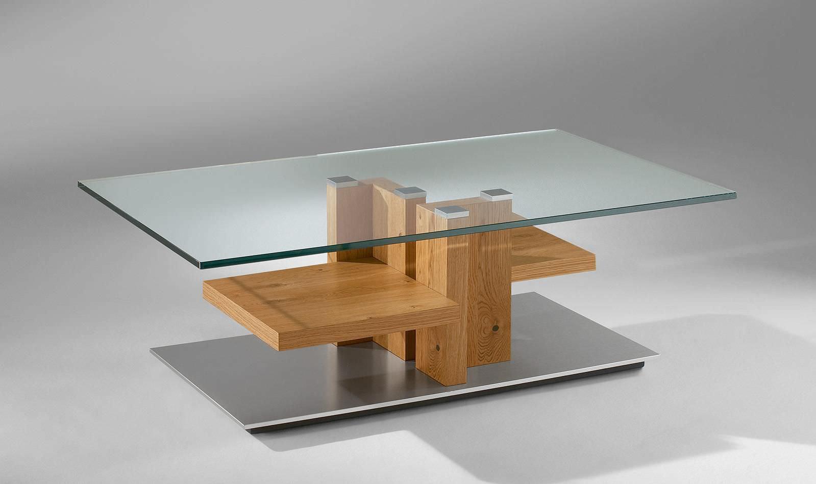 Moderner Couchtisch / Holz / Glas / rechteckig - 4424 - Alfons ...