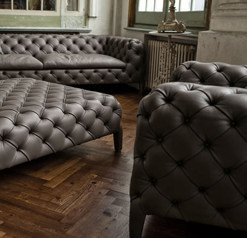 Chesterfield sofa samt  Chesterfield-Sessel / Samt - WINDSOR by Manzoni & Tapinassi - arketipo