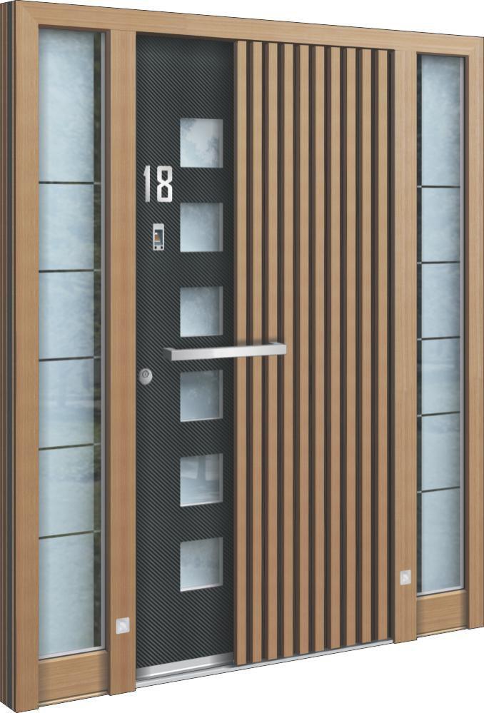 Eingangstüren holz glas  Eingangstür / einflügelig / Holz / Glas - AA 226 - INOTHERM