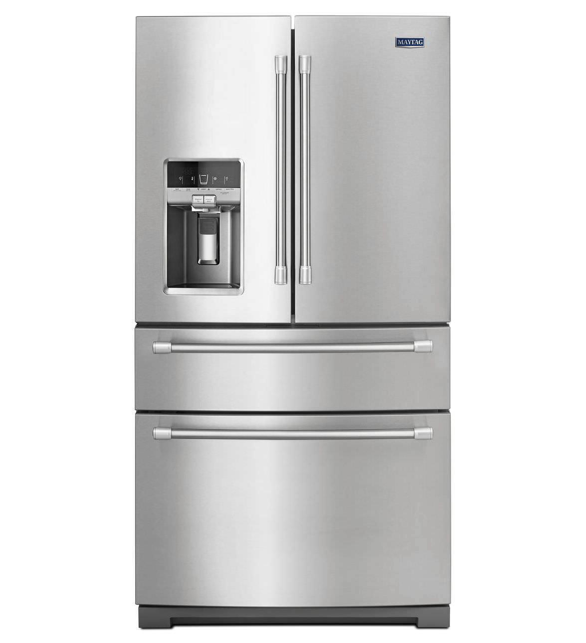 GroBartig Kühl Gefrierschrank / Amerikanisch / Edelstahl / Eiswürfelspender / Mit  Wasserspender   MFX2876DRM