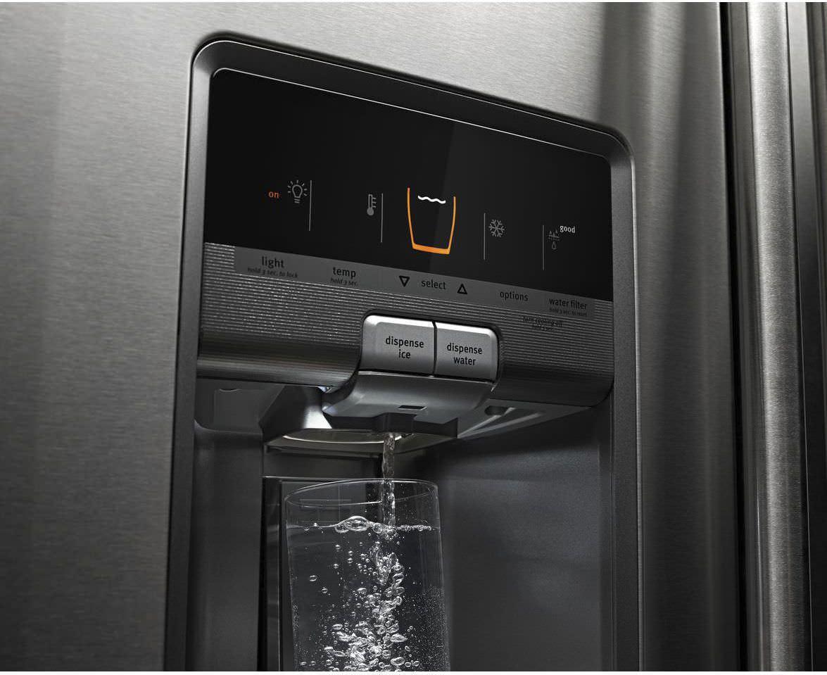 Kühlschrank Wasserspender : Amerikanisch kühlschrank edelstahl mit wasserspender