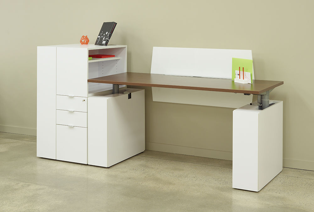 Schreibtisch Stauraum laminat-schreibtisch / modern / objektmöbel / integrierter stauraum